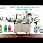pressure sensitive labeling machine for front and back label with round bottle sticker labeler