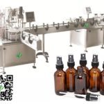 auto freshener filling machine with twin working stations feeding plugging capping labeling system